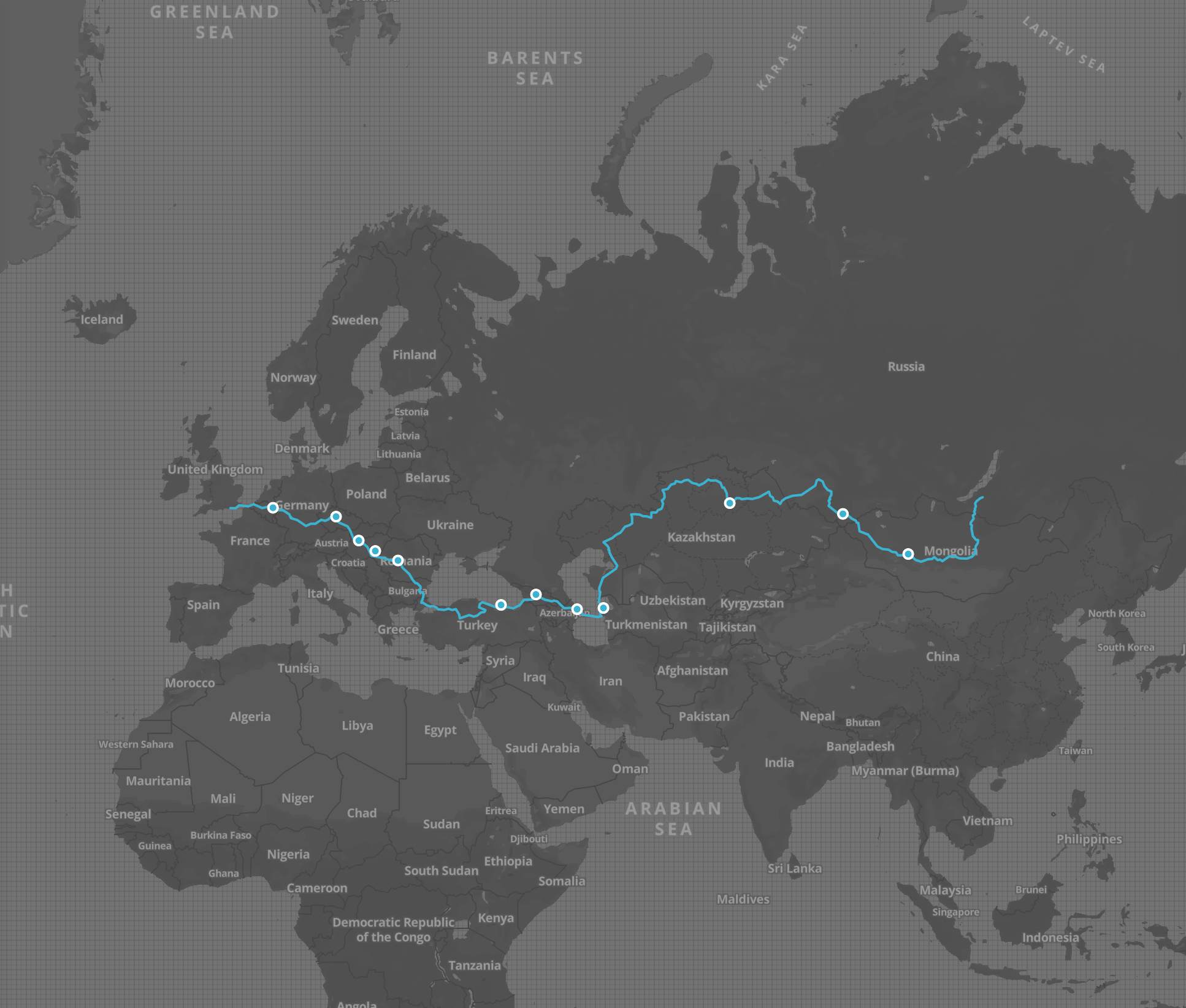 Making To Mongolia: Hop, Skip & Jump Route Map 2015